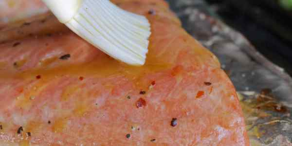 Grilled Salmon with Lemon-Chili Butter