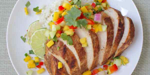 Jerk Chicken with Tropical Salsa