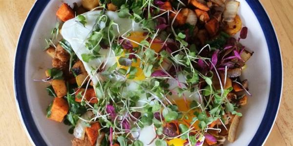 Rutabaga and Sweet Potato Hash