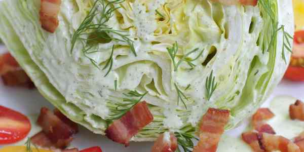 Wedge Salad with Guilt-Free Ranch